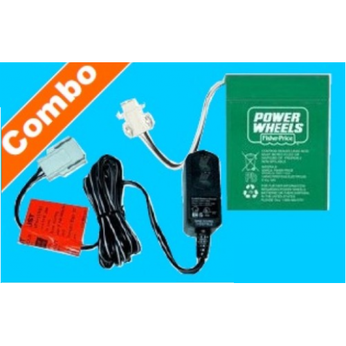 Wheels 6v Green Battery Type H And Charger 00803 0437 00801 1780