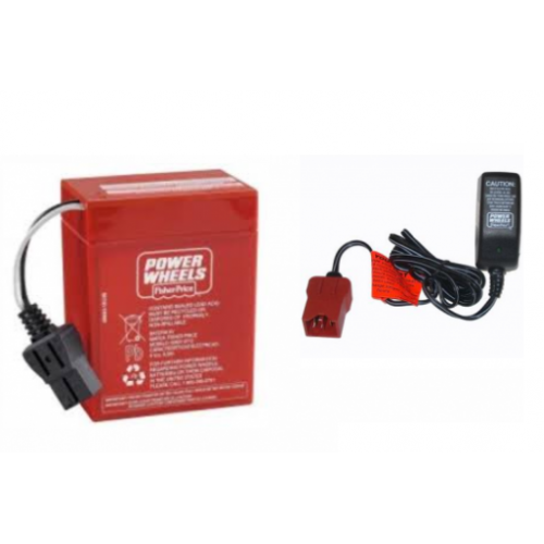 Wheels 6v Red Battery Type A And Charger 00801 0712 1481