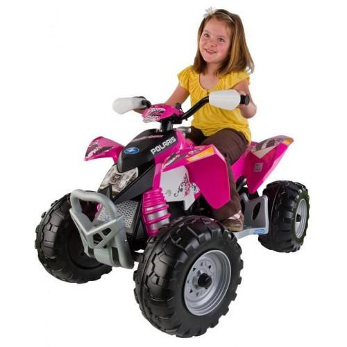 Peg perego 12v polaris outlaw pink igor0045 kidswheels for Peg perego polaris outlaw