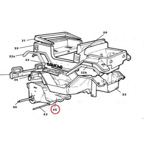 Peg Perego Replacement Parts : Peg perego rear motor pan assembly sagi xn kidswheels