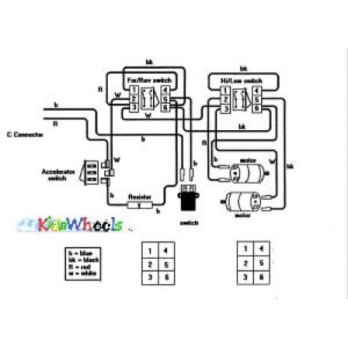12 18 24 volt single battery ride on toy wiring diagram kidswheels rh kidswheels com