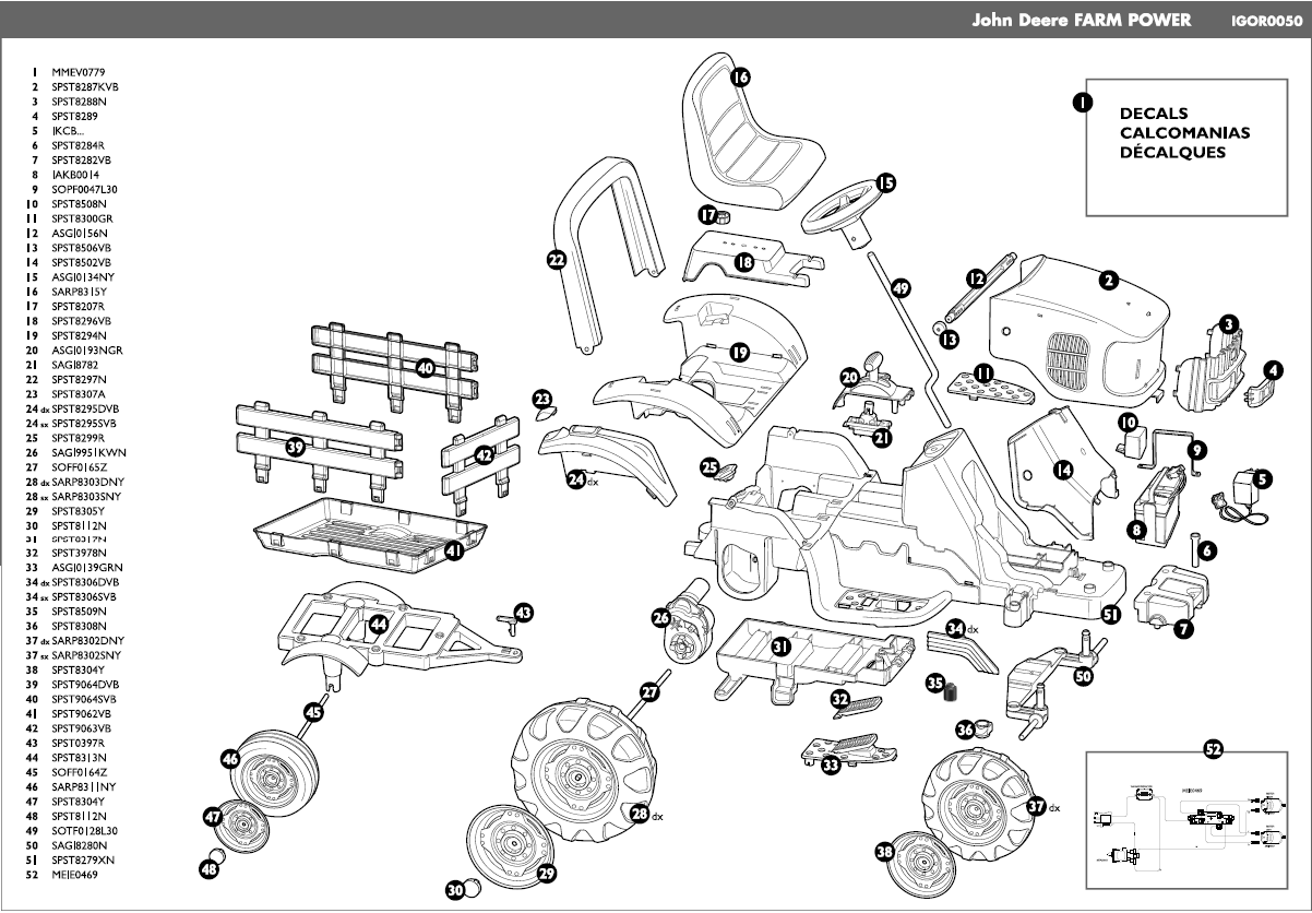 John Deere Farm Power parts diagram