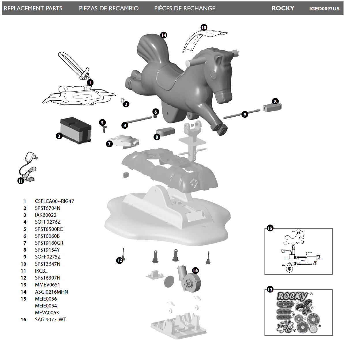 IGED0092US parts diagram