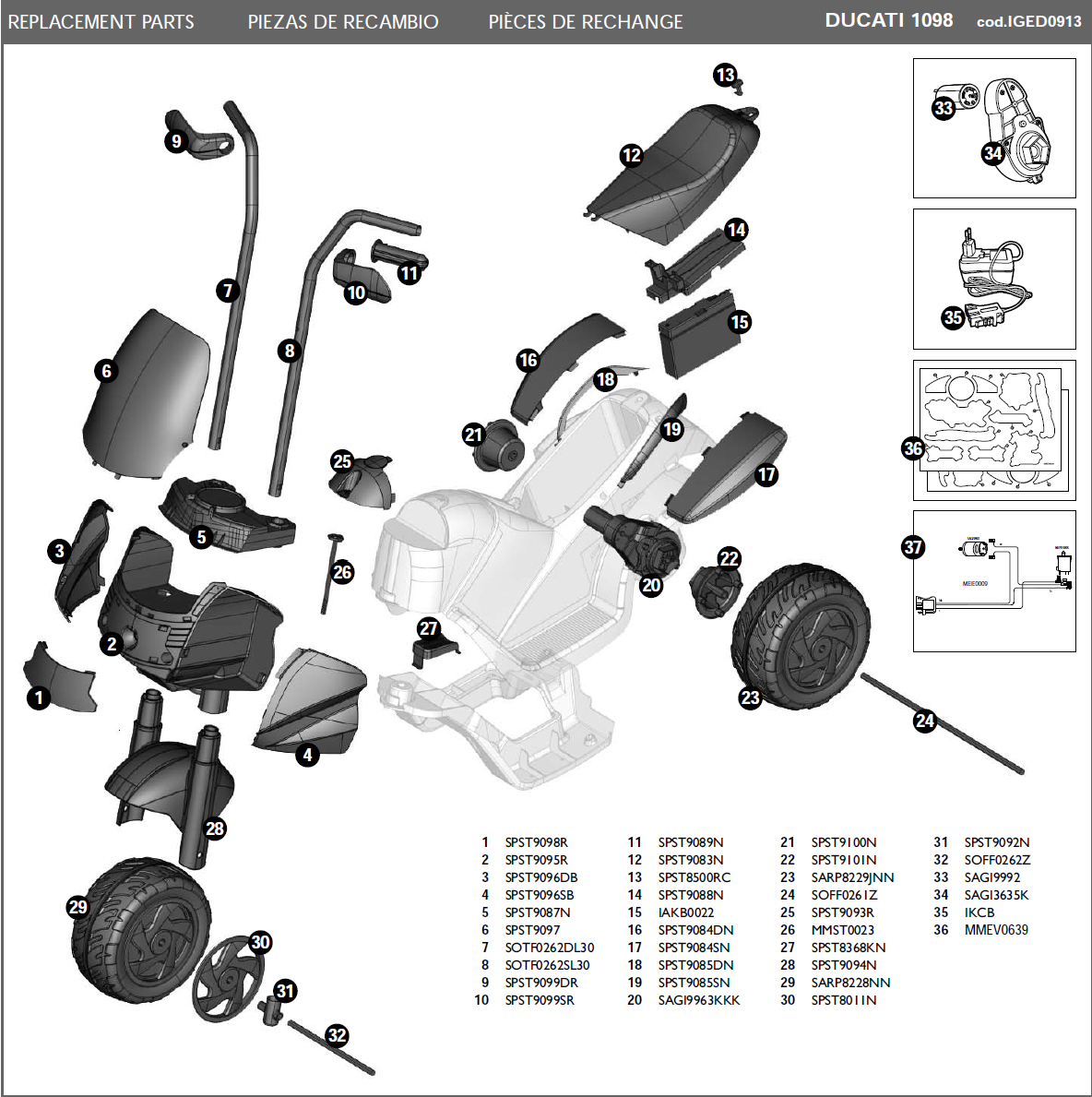 IGED0913 parts diagram