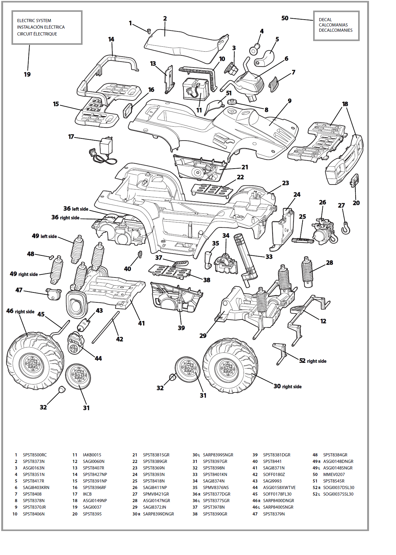 polaris sportsman 700  yellow  igod0027 parts