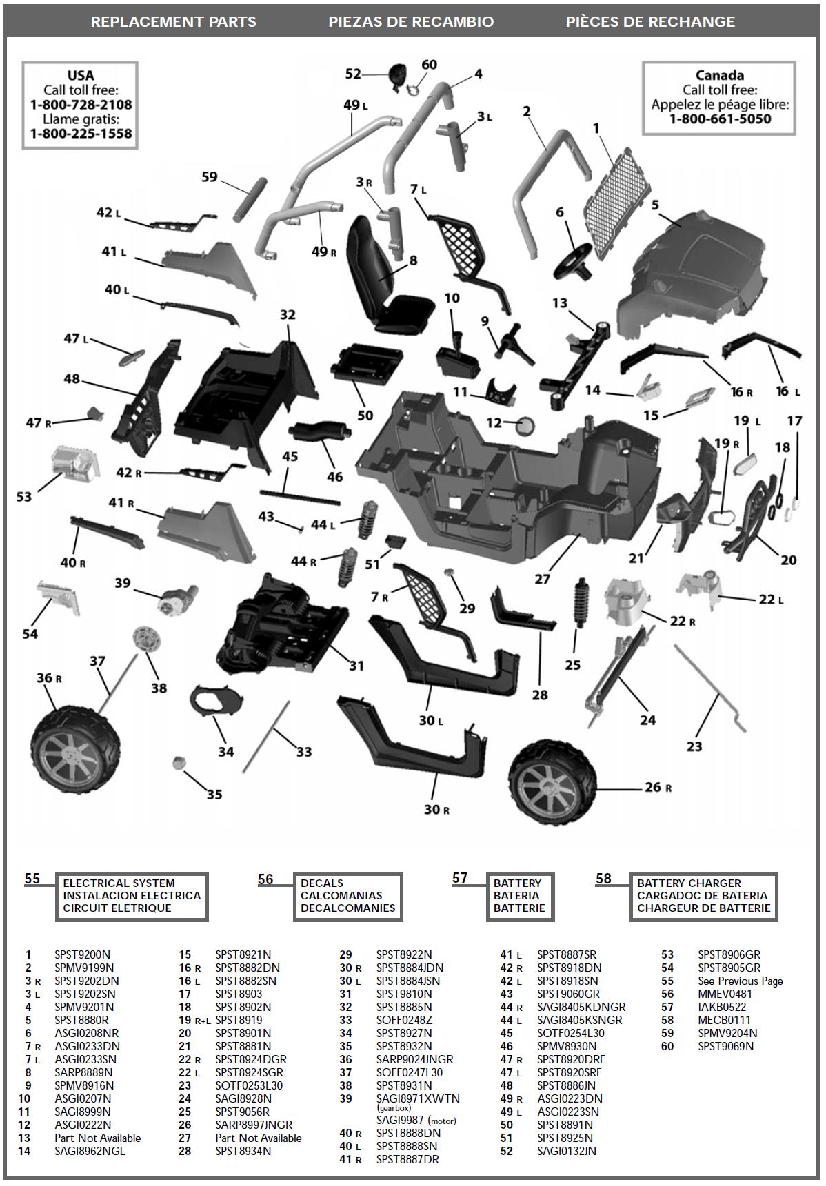Polaris Rzr Parts Diagram Layout Wiring Diagrams Fuse Box Ranger Igod0516us Kidswheels Rh Com 2008 2013 800