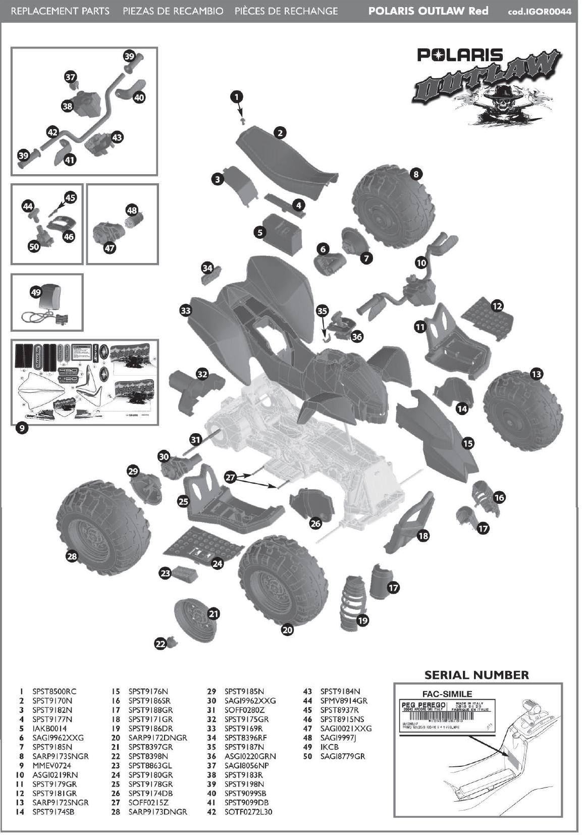 IGOR0044 parts diagram