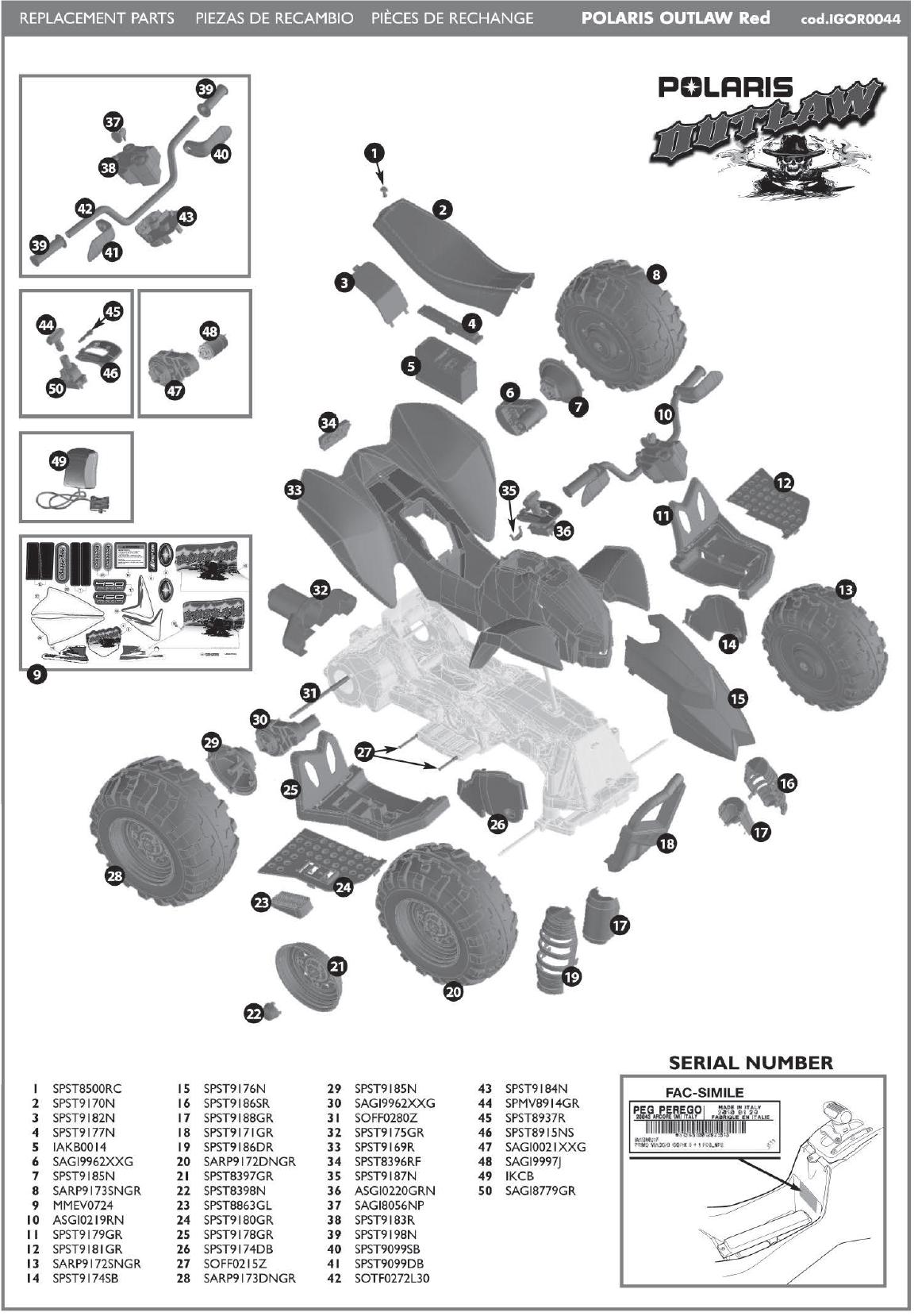 IGOR0045 parts diagram