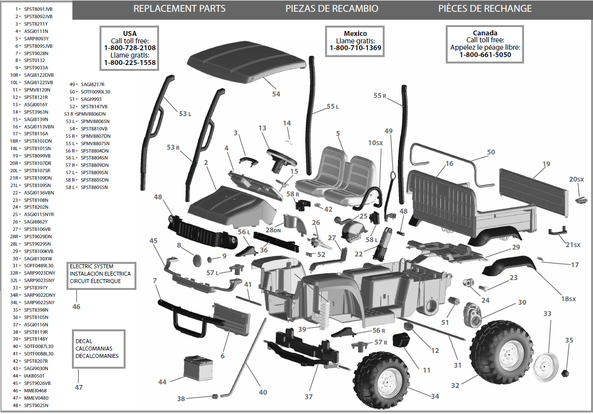 john deere gator hpx se igod0051 parts kidswheels rh kidswheels com gas  golf cart engine diagram